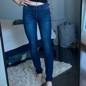 Esprit blue mid-rise skinny jean